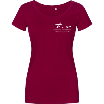 Tescht Tescht - Signature Pocket T-Shirt Damenshirt berry