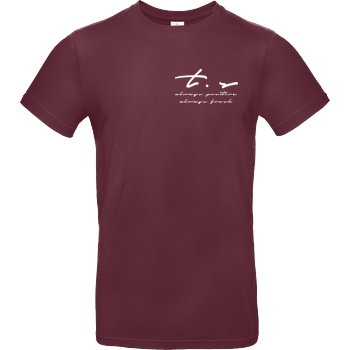 Tescht Tescht - Signature Pocket T-Shirt B&C EXACT 190 - Bordeaux