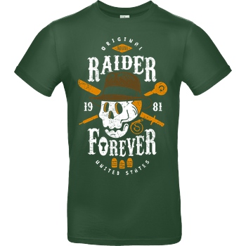 OlipopArt Raider Forever T-Shirt B&C EXACT 190 -  Bottle Green