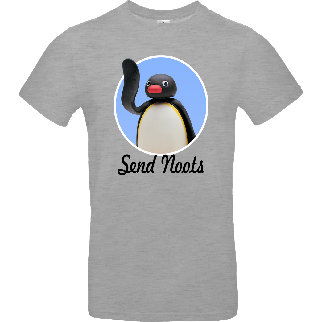 Oli Pocket OliPocket - Send Noots T-Shirt B&C EXACT 190 - heather grey