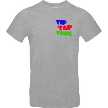 TipTapTube - Logo oldschool B&C EXACT 190 - heather grey