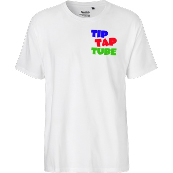 TipTapTube TipTapTube - Logo oldschool T-Shirt Fairtrade T-Shirt - white