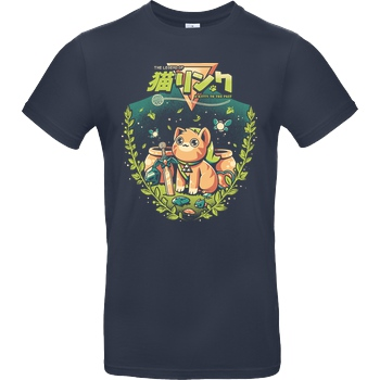 Ilustrata A Kitty To The Past T-Shirt B&C EXACT 190 - Navy