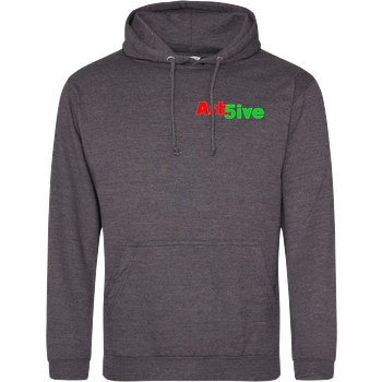 Ash5ive Ash5ive - Logo Sweatshirt JH Hoodie - Dark heather grey