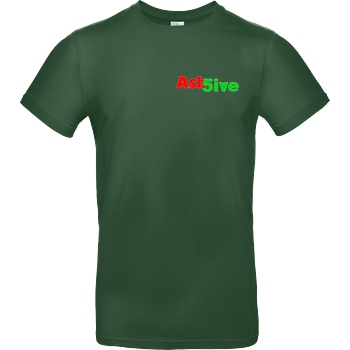 Ash5ive Ash5ive - Logo T-Shirt B&C EXACT 190 -  Bottle Green