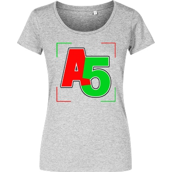 Ash5ive Ash5ive - Logo Ecken T-Shirt Girlshirt heather grey