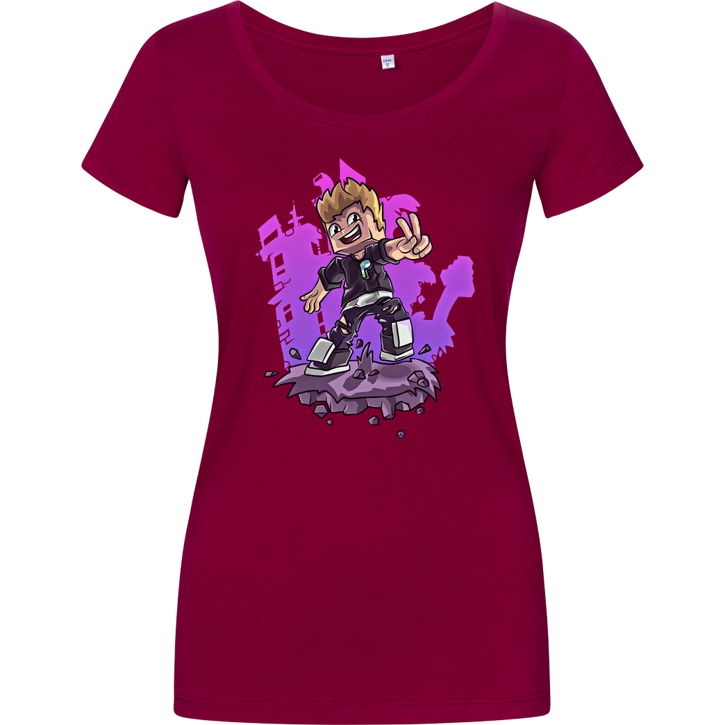 SYNTE Synte - Drawn Avatar T-Shirt Girlshirt berry