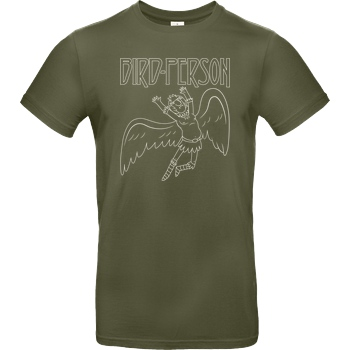 Demonigote Shirts Bird Person T-Shirt B&C EXACT 190 - Khaki
