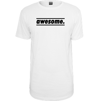 AwesomeElina Awesome Elina - awesome. T-Shirt Urban Classics Long Tee white