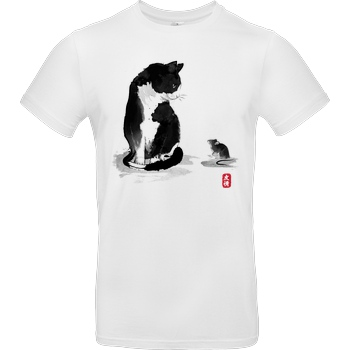 Dr.Monekers The Cat and the little Mouse T-Shirt B&C EXACT 190 - Weiß