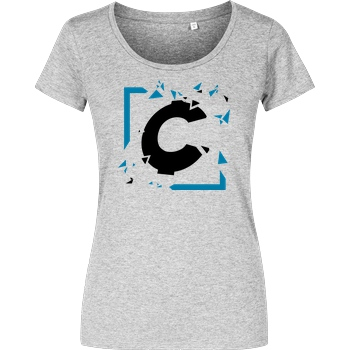 C0rnyyy C0rnyyy - Shattered Logo T-Shirt Girlshirt heather grey