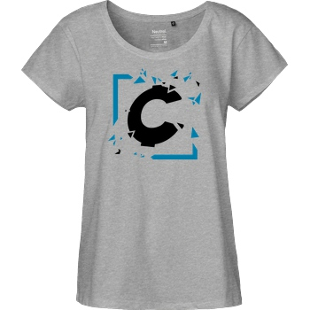 C0rnyyy C0rnyyy - Shattered Logo T-Shirt Fairtrade Loose Fit Girlie - heather grey