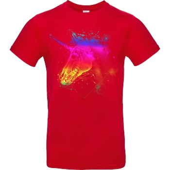 Rico Mambo Space Unicorn color T-Shirt B&C EXACT 190 - Red