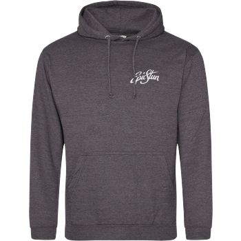 EpicStun EpicStun - Embroidered Logo Sweatshirt JH Hoodie - Dark heather grey