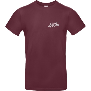EpicStun EpicStun - Embroidered Logo T-Shirt B&C EXACT 190 - Bordeaux