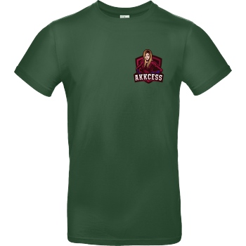 Akkcess' Akkcessoires Akkcess - Akkcess Logo pocket print T-Shirt B&C EXACT 190 -  Bottle Green