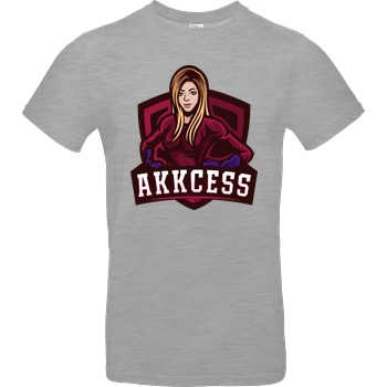 Akkcess' Akkcessoires Akkcess - Akkcess Logo chest print T-Shirt B&C EXACT 190 - heather grey