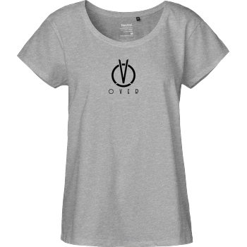 CanBroke Can - Over Logo T-Shirt Fairtrade Loose Fit Girlie - heather grey