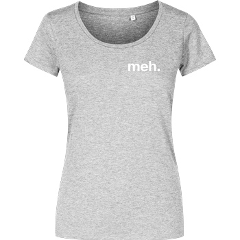 None meh. T-Shirt Girlshirt heather grey