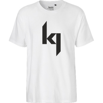 Kjunge Kjunge - Logo T-Shirt Fairtrade T-Shirt - weiß