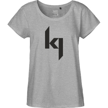 Kjunge Kjunge - Logo T-Shirt Fairtrade Loose Fit Girlie - heather grey
