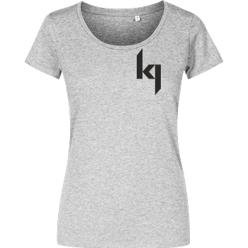 Kjunge - Small Logo Girlshirt heather grey