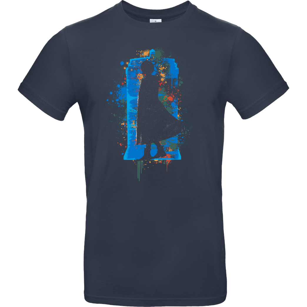 Rocketman Shadow of the Tardis T-Shirt B&C EXACT 190 - Navy