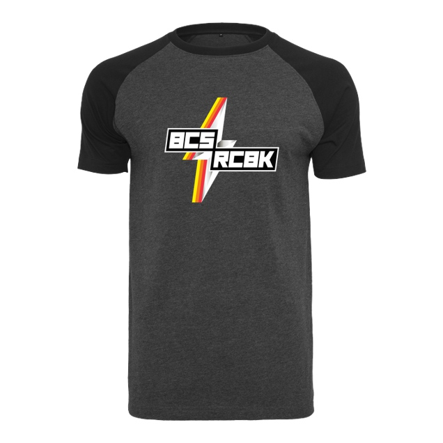 Slaty - Slaty - Because Racebike Flash - T-Shirt - Raglan-Shirt dark heather grey