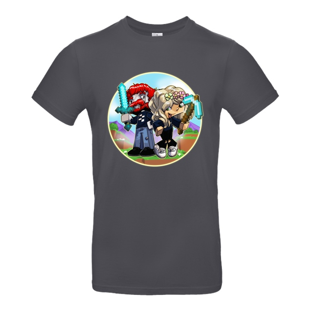 AwesomeElina - Awesome Elina - Cartoon - T-Shirt - B&C EXACT 190 - Dark Grey