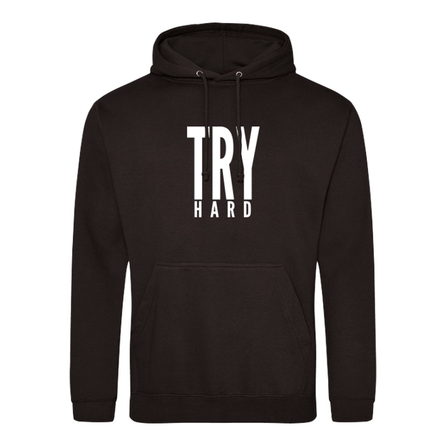 MarcelScorpion - MarcelScorpion - Try Hard weiß - Sweatshirt - JH Hoodie - Schwarz