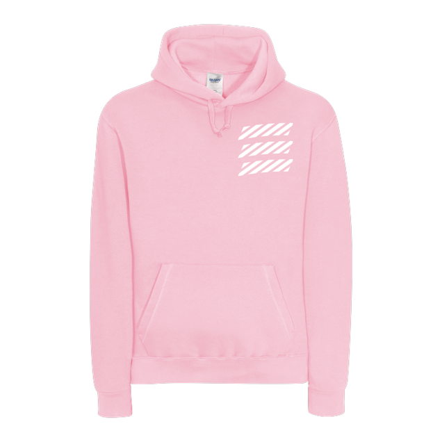 Echtso - Echtso - Striped Logo - Sweatshirt - B&C HOODED - Light Pink