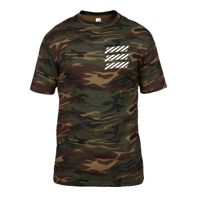 Echtso - Echtso - Striped Logo - T-Shirt - Anvil Heavy Tee - Camouflage