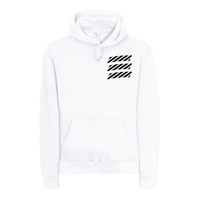 Echtso - Echtso - Striped Logo - Sweatshirt - B&C HOODED - white