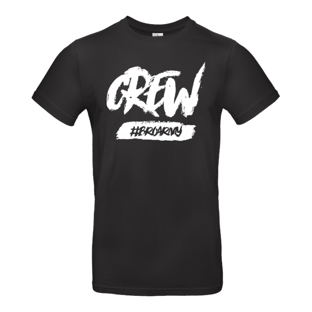 GamerBrother - GamerBrother - Crew-Shirt - BroArmy - T-Shirt - B&C EXACT 190 - Schwarz