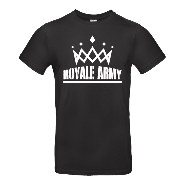 Krench Royale - Krench - Royale Army - T-Shirt - B&C EXACT 190 - Schwarz