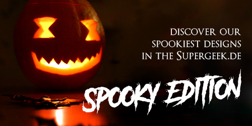 Supergeek Halloweenbanner mit Link zur Kategorie Horror/Halloween